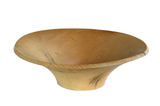 red maple wood turned bowl