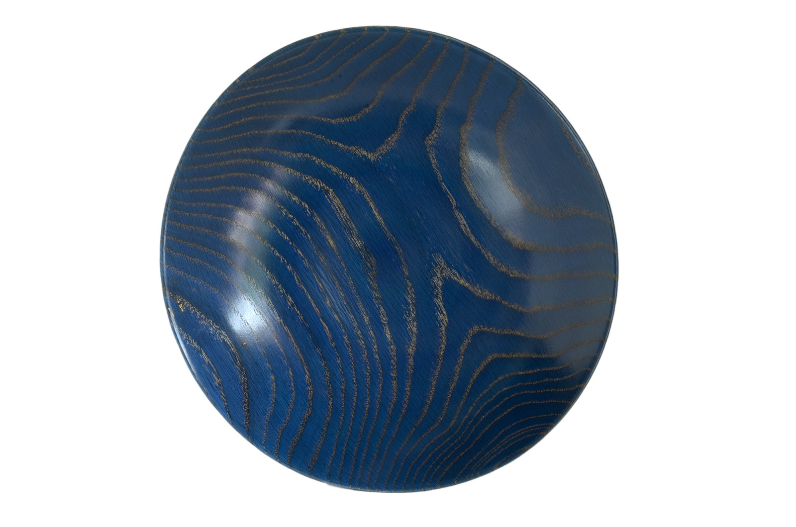 blue bowl wood turned scott ruesswick