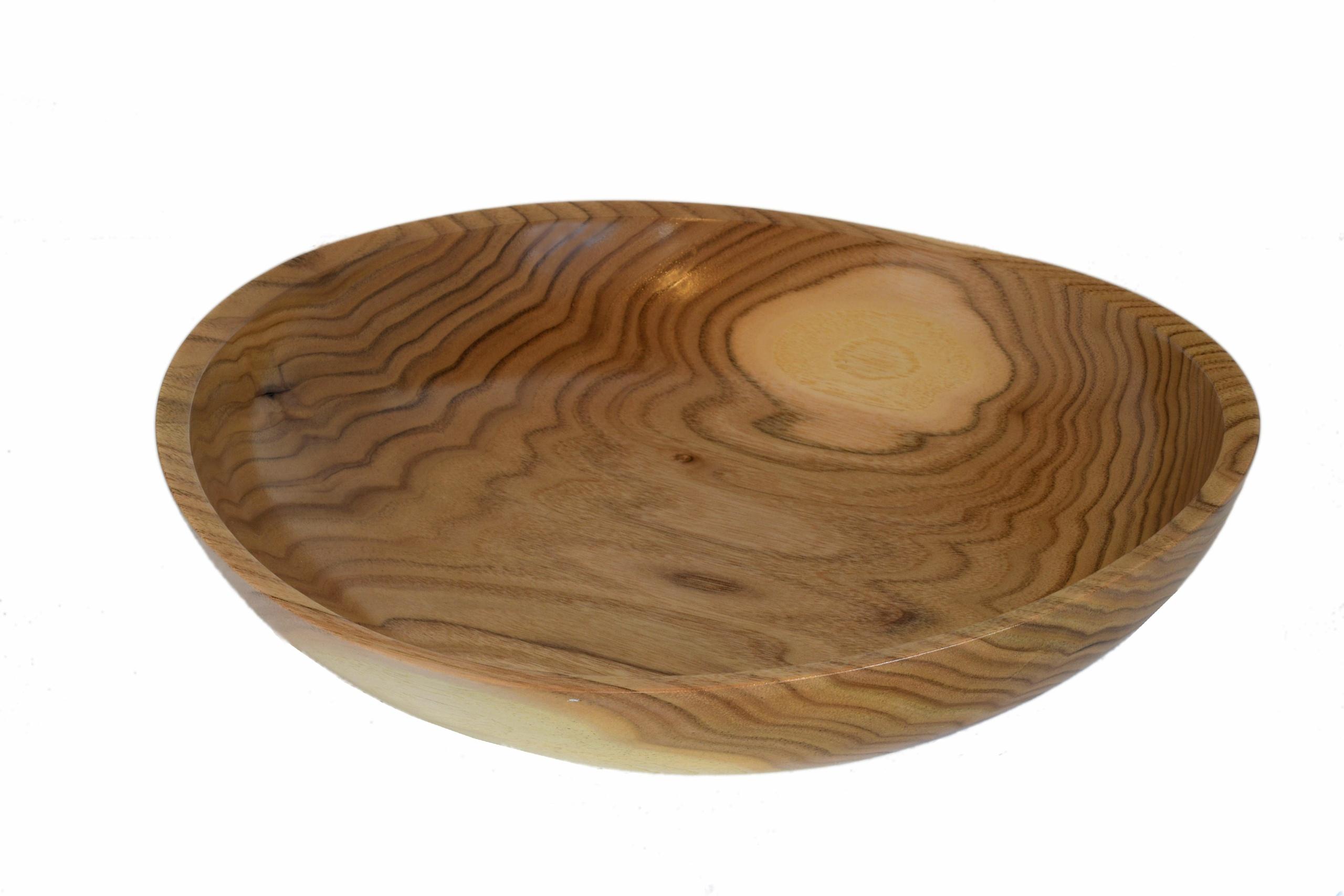 wood turned butternut bowl