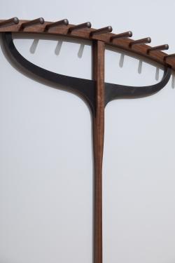 custom handmade coat hanger by furniture master duncan gowdy