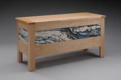 handmade custom blanket chest by Duncan Gowdy