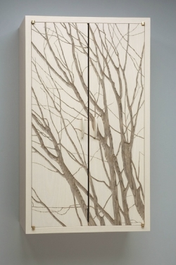 handmade custom Wall Cabinet with Branches by furniture master Duncan Gowdy