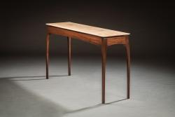 handmade custom Sofa Table by furniture master Eric Grant