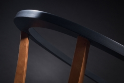 close up of a handmade custom chair by furniture master Evan L. Court