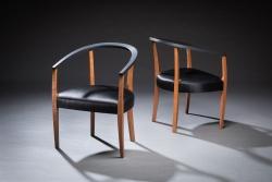 handmade custom chair by furniture master Evan L. Court