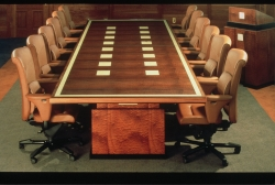 handmade custom conference table by furniture master Fred Puksta