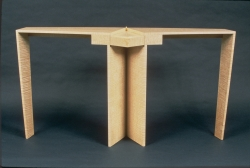 handmade custom table by furniture master Fred Puksta