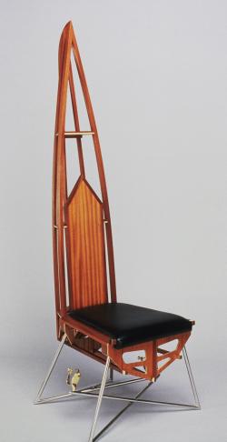 handmade custom chair by furniture master Fred Puksta