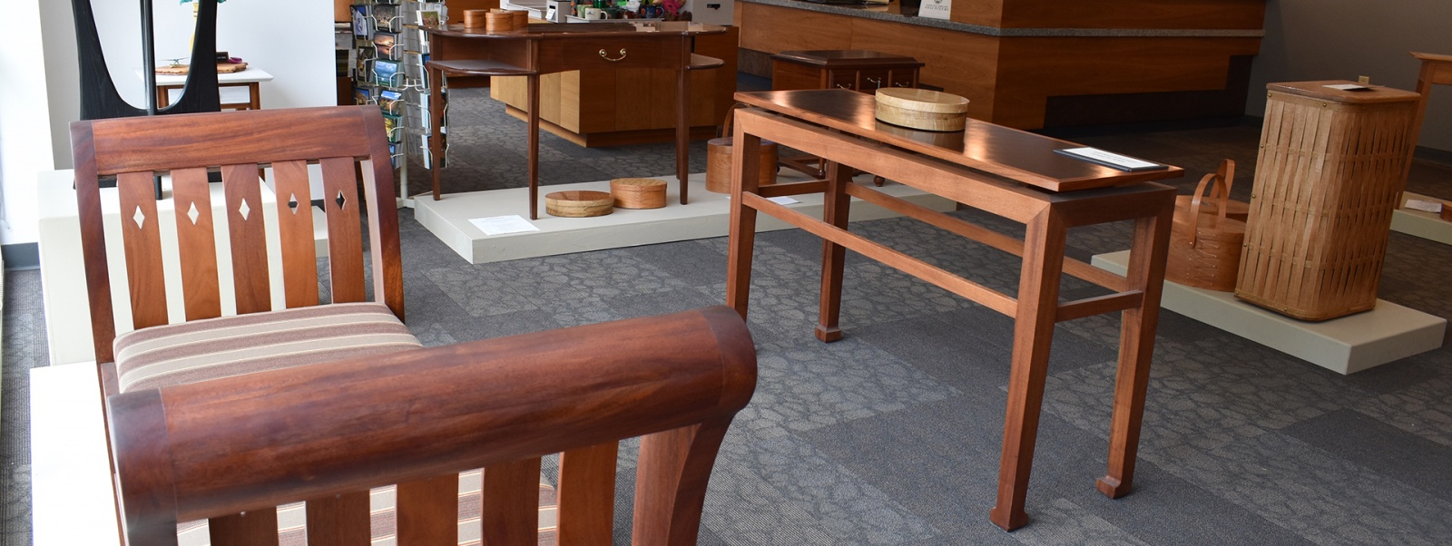 The Furniture Masters Exhibition Gallery is located at 49 South Main Street in Concord, NH