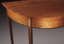 handmade custom table by furniture master Garrett Hack