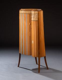 handmade custom standing cabinet by furniture master Garrett Hack