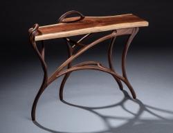 handmade custom hall table by furniture master Greg Brown