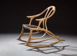 handmade custom rocking chair by furniture master Greg Brown
