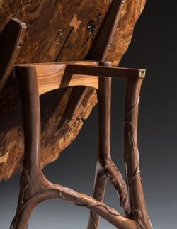handmade custom table base by furniture master Greg Brown