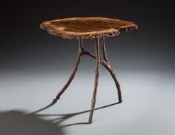 handmade custom table by furniture master Greg Brown