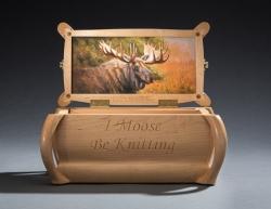 handmade custom knitting box by furniture master Greg Brown