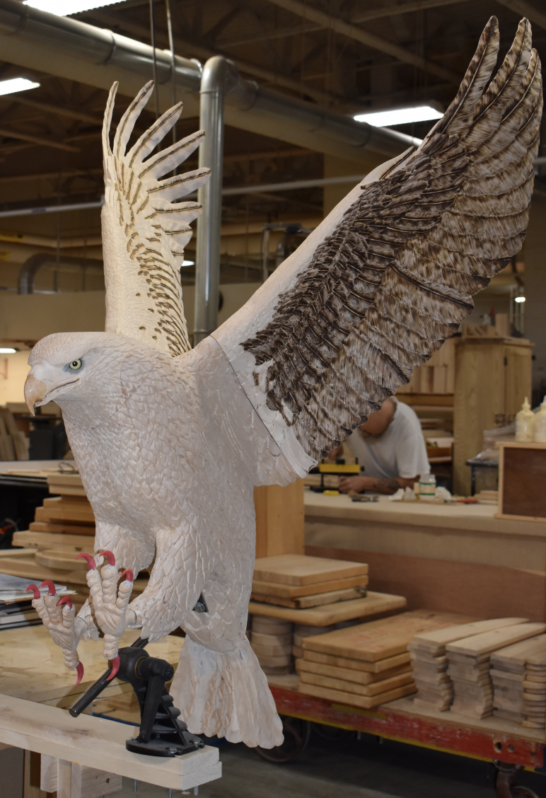 hand carved wooden eagle nh furniture masters