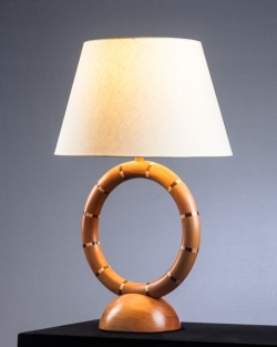 handmade custom lamp by furniture master Howard Hatch