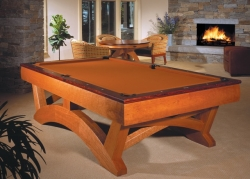 handmade custom pool table by furniture master Howard Hatch