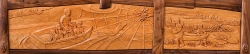 handmade custom bed and headboard by furniture master Jeffrey Cooper