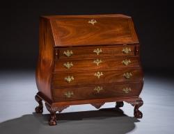 handmade custom Bombe desk by furniture master Jeffrey Roberts