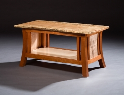 custom handcrafted coffee table furniture master jeffrey roberts