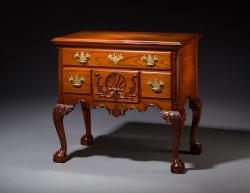 philadelphia lowboy mahogany handmade custom by furniture master Jeffrey Roberts