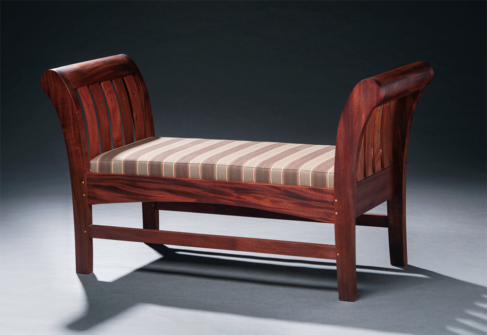 mahogany settee nh furniture masters