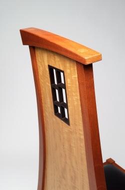 custom handmade chair by furniture master Michael Gloor