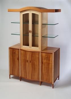 custom handmade china cabinet by furniture master Michael Gloor