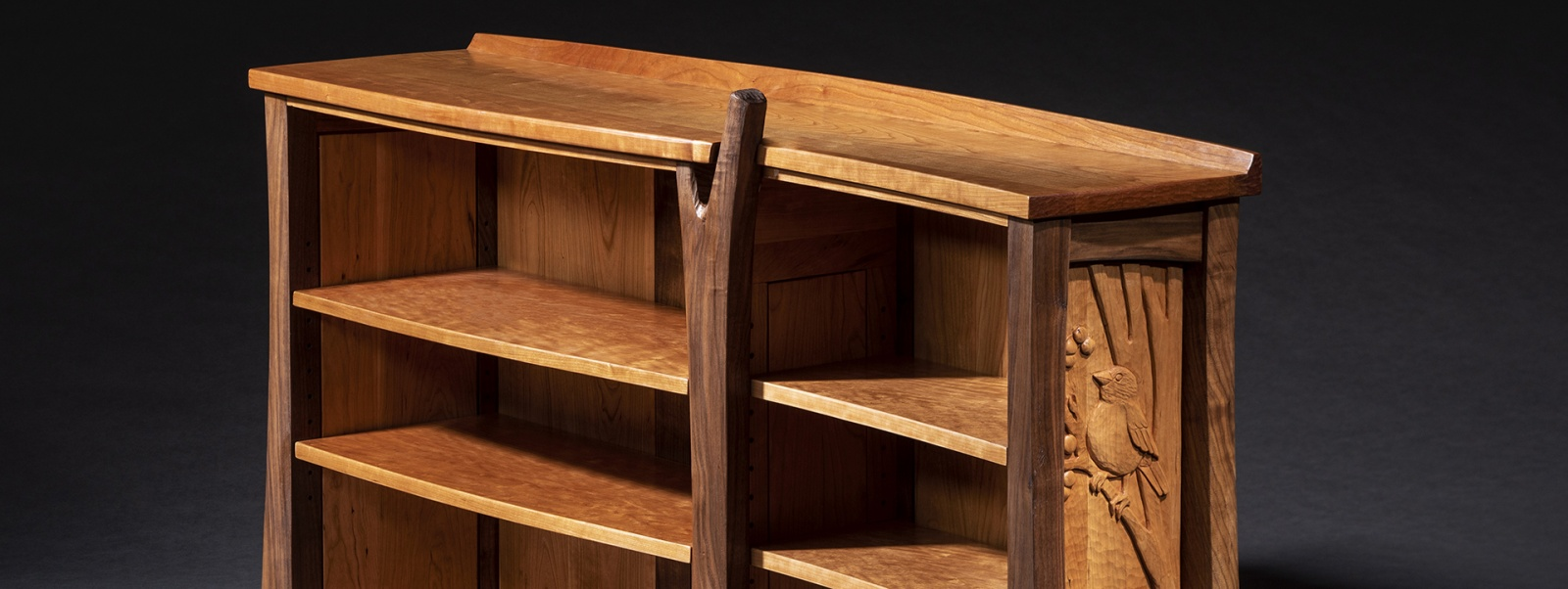 A bookshelf created by furniture master Jeffrey Cooper