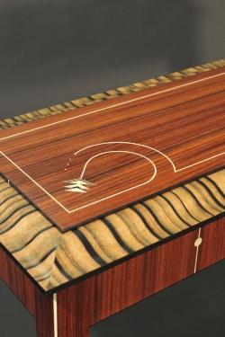 custom handmade console table by furniture master owain harris