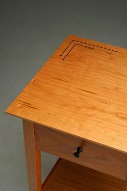custom handmade nightstand by furniture master owain harris