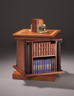 custom handmade bookcase by furniture master richard oedel