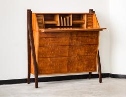 custom handmade desk by furniture master richard oedel