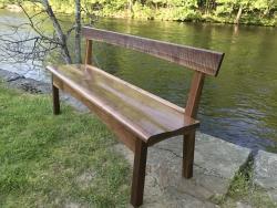 custom handmade bench by furniture master roger myers