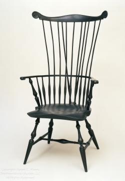 custom handmade windsor chair by furniture master roger myers