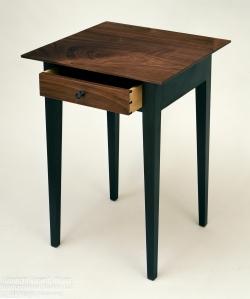 custom handmade nightstand table by furniture master roger myers