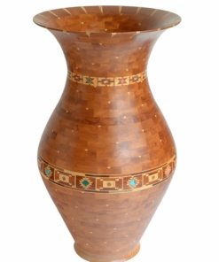 handmade stone wood vase
