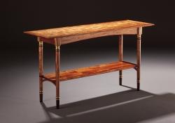 A custom handmade console table created by Thomas Walsh
