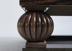 Closeup of a custom handmade table created by Thomas Walsh