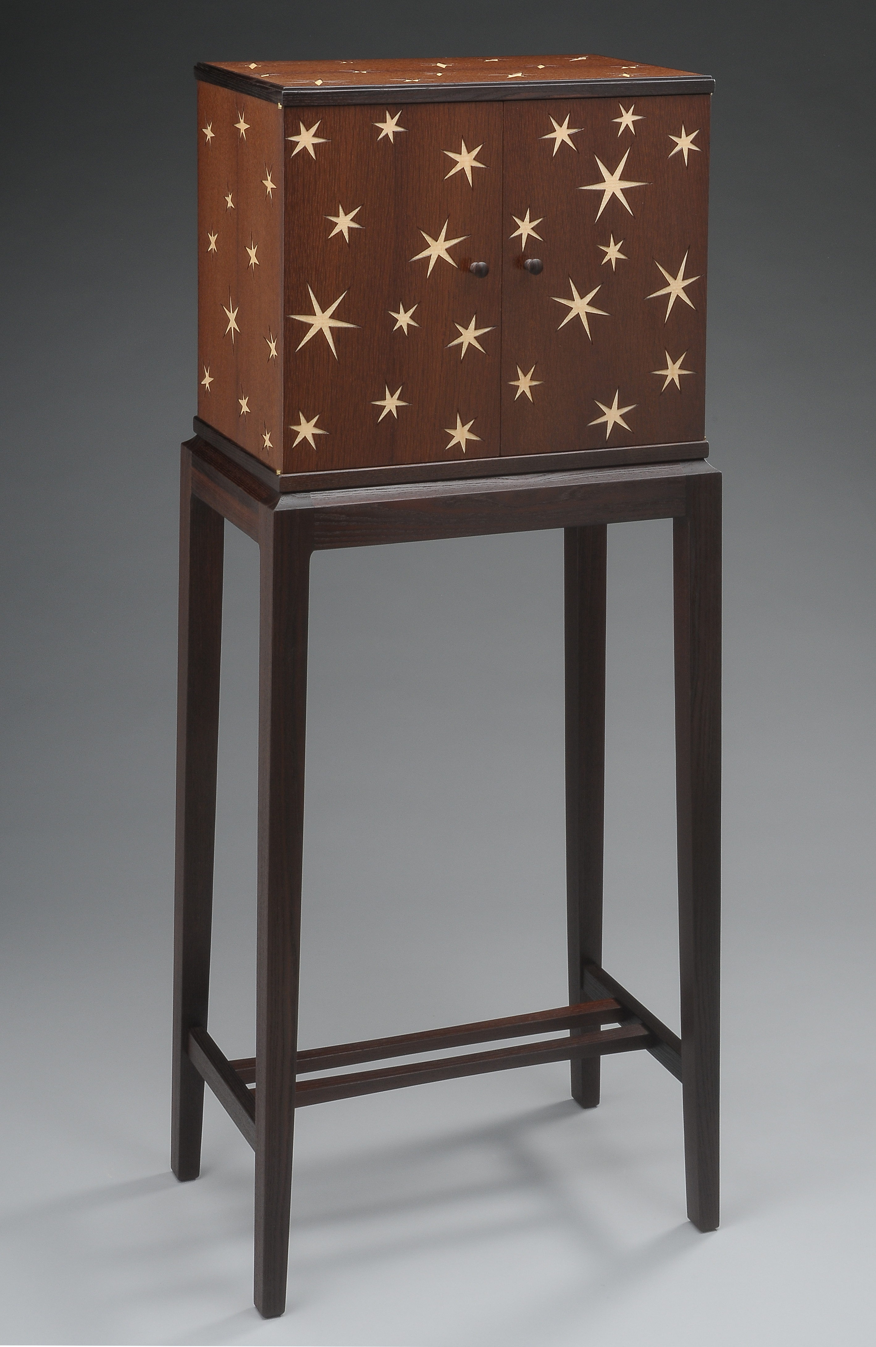 custom handmade jewelery cabinet by furniture master tim coleman