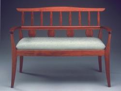 custom handmade settee by furniture master tim coleman