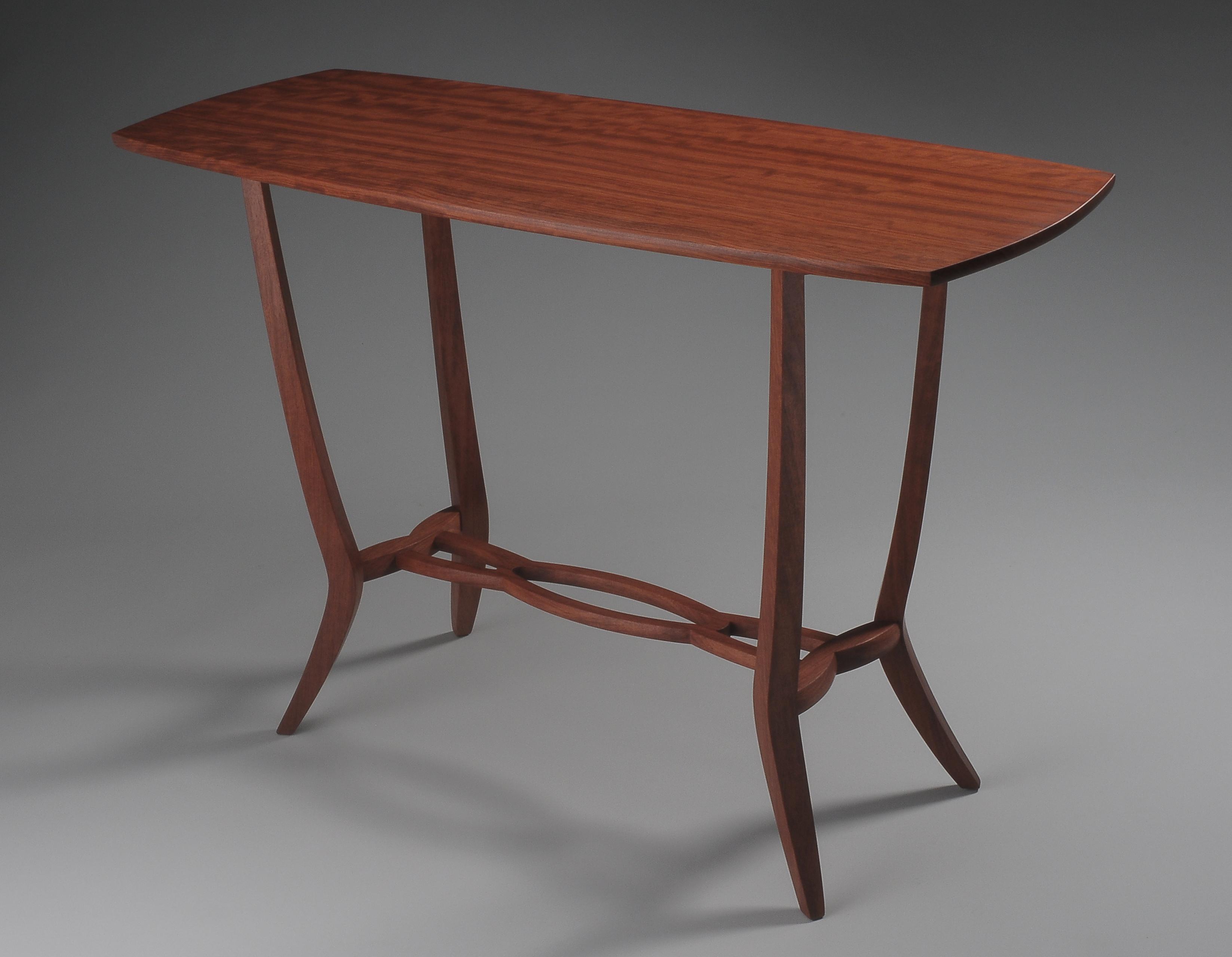 custom handmade hall table by furniture master tim coleman