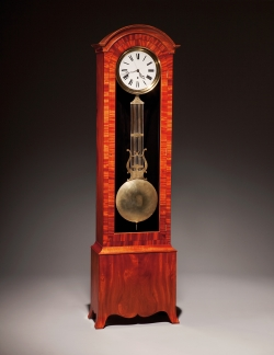 custom handmade clock by furniture master tom mclaughlin